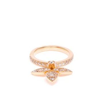 JAGGA | 18k Rose Gold and Diamond Leaf Ring | brownsfashion.com | The Finest Edit of Luxury Fashion | Clothes, Shoes, Bags and Accessories for Men & Women