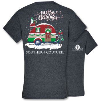 Southern Couture Preppy Christmas Camper Holiday T-Shirt
