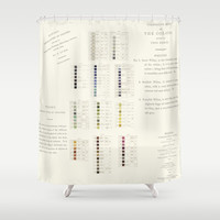 Werner's nomenclature of colour Shower Curtain by anipani