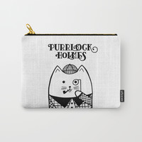 Purrlock Holmes Carry-All Pouch by noondaydesign