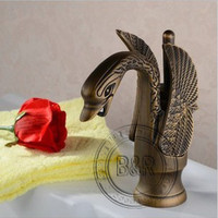 Bathroom Basin Tap Single Handle Single Hole Surface Mounted Antique Brass Faucet Lh-8246