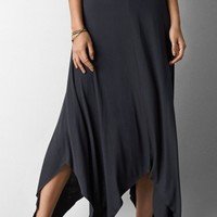Simple Handkerchief-Hem Midi Skirt - OASAP.com