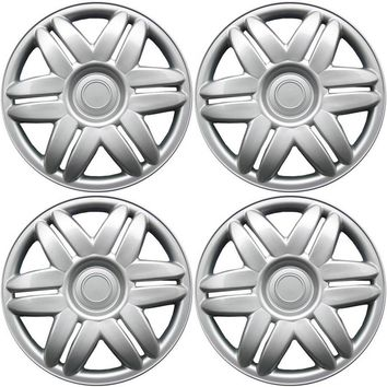 """4 Piece Set A/M Silver ABS Fits 2000 2001 TOYOTA CAMRY 15"""" Wheel Cover Hub Caps"""