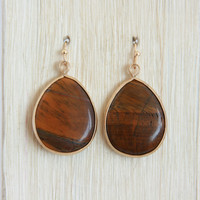Oak Droplet Dangle Earrings