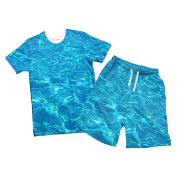 Water Combo T-shirt and Men's Shorts