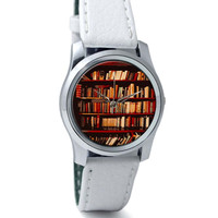 Bookshelves Wrist Watch