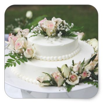Wedding Cake Square Sticker