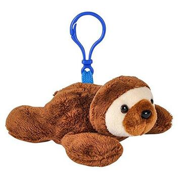 Wildlife Tree Sloth Plush 3.5 Inch Stuffed Animal Backpack Clip Toy Keychain Wildlife Hanger Party Favor Pack of 12