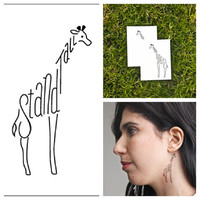 Giraffe - temporary tattoo (Set of 2)