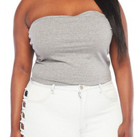 Plus Size Stretch Tube Top
