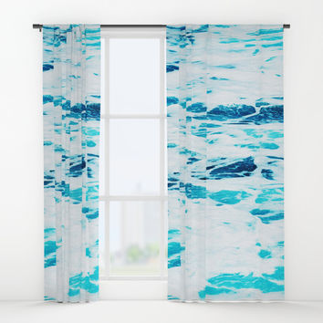 Ocean Waves Window Curtains by cadinera