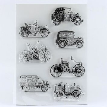 Clean Classic cars Stamps Scrapbook Paper Craft Clear stamp scrapbooking
