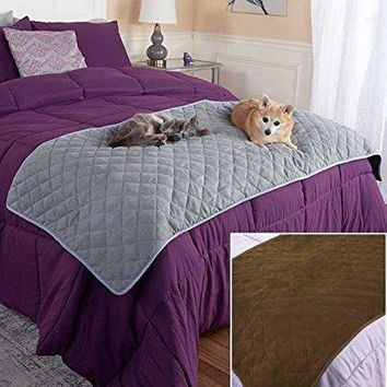 Quilted Pet Bed Scarf - Brown