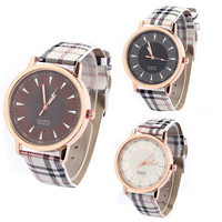 Classic Lattice Leather Watch for Women