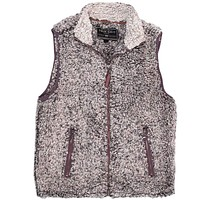 Frosty Tipped Double Up Vest in Charcoal by True Grit - FINAL SALE
