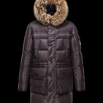 Moncler Men Wool Down-Quilted Coat