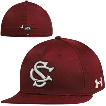 Under Armour South Carolina Gamecocks On-Field Baseball Flex Hat - Garnet/White