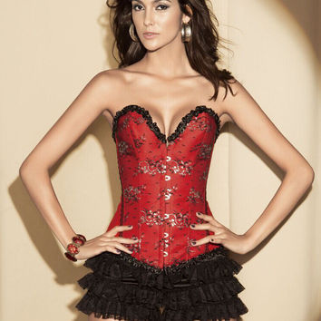 Waist Shaper Sexy Body Lace Embroidery Palace Slim Corset [4965272964]