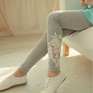 Was thin Slim mouth hollow lace nine points female [10269374407]
