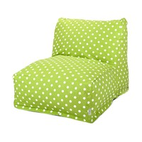 Printed Bean Bag Lounge Chair - Small Polka Dots - Lime