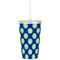 Green Yellow Circles o Acrylic Double-wall Tumbler
