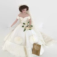 Franklin Mint Jackie Kennedy Wedding Doll