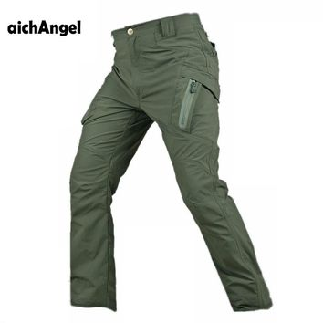 Tactical Cargo Pant Men Quick-dry Trousers Military Waterproof Multi-pockets SWAT Combat Thin Paintball Pant
