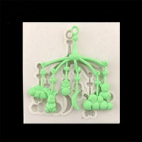 Baby Car Pendant Shape Silicone Cake Mold DIY Fondant Candy Cookie Cupcake Molds Cake Decorating Tools Baking Biscuits Mould