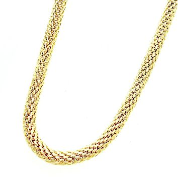 ON SALE - 18 inch 18K Gold Plated Hollow Mesh Stainless Steel Chain