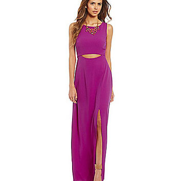 Gianni Bini Sierra Crepe Sheath Maxi Dress | Dillards.com