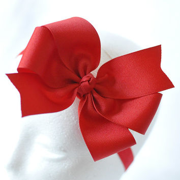 Custom color big hair bow, Extra Large bow for teens and girls, Girl's big bow headband, Big cheer bow, Teen hair bow, Girls hairbow