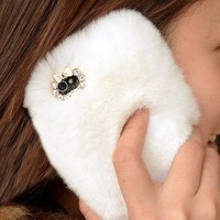 accessoryinlove — Furry with Lace iPhone 5 Cover for Winter