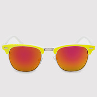 Dina Girl Sunglasses - Neon Yellow