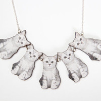 Cat Lady Wooden Laser Cut Necklace