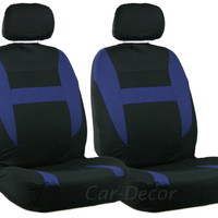 Mesh Blue Black LB Car Seat Cover 2