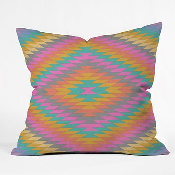 Bianca Green Ancient Rainbow Throw Pillow