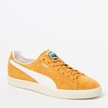Puma Clyde Premium Core Yellow Shoes at PacSun.com