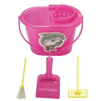 Barbie Girl Dolls Playing Household Toys Cleaning Tools