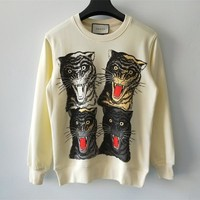 Gucci Tiger Print Sweater Sweatshirts