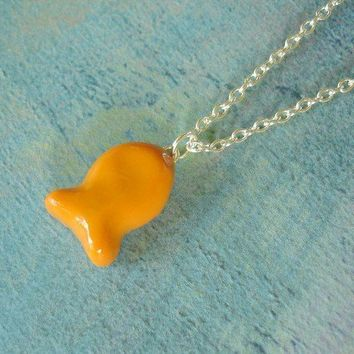 The Original Goldfish Polymer Clay Charm Necklace by Pumpkinpye517