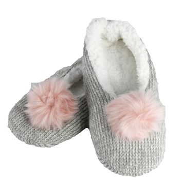 Women's Sleepyz Slippers with Large Poms