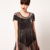 Evil Twin 'Precious Metal' Sheer Mesh Dress at asos.com