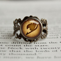 Fairy Tail antique style BRONZE Ring