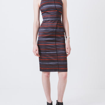 Striped Seam Pencil Dress
