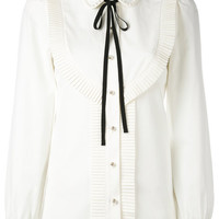 Gucci Pleated Trim Blouse - Farfetch
