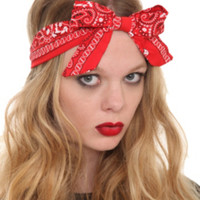 Black And Red Bandana Stretchy Headband 2 Pack