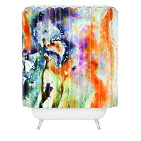 Ginette Fine Art Blue Iris Passion Shower Curtain