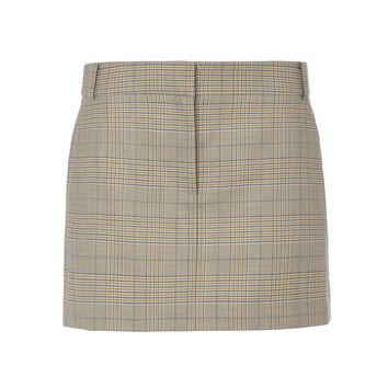 Tibi Cooper Silk Wool Mini Trouser Skirt