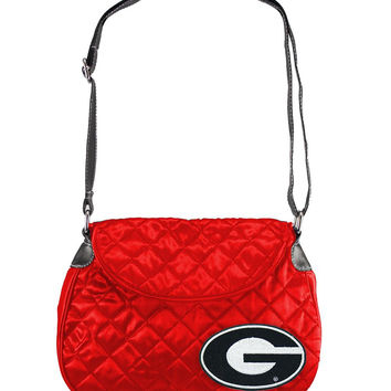 Georgia Bulldogs NCAA Quilted Saddlebag (Light Red)