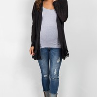 Black-Crochet-Trim-Knit-Cardigan